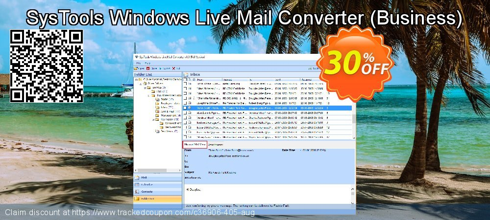 SysTools Windows Live Mail Converter - Business  coupon on April Fool's Day discounts