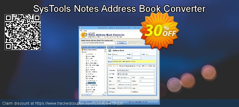SysTools Notes Address Book Converter coupon on 4th of July offering discount