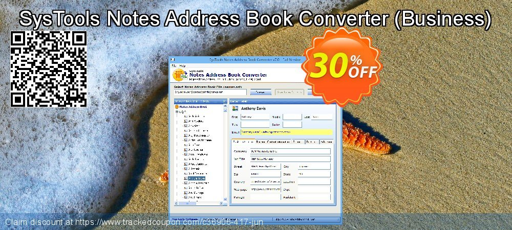 SysTools Notes Address Book Converter - Business  coupon on End of Year deals