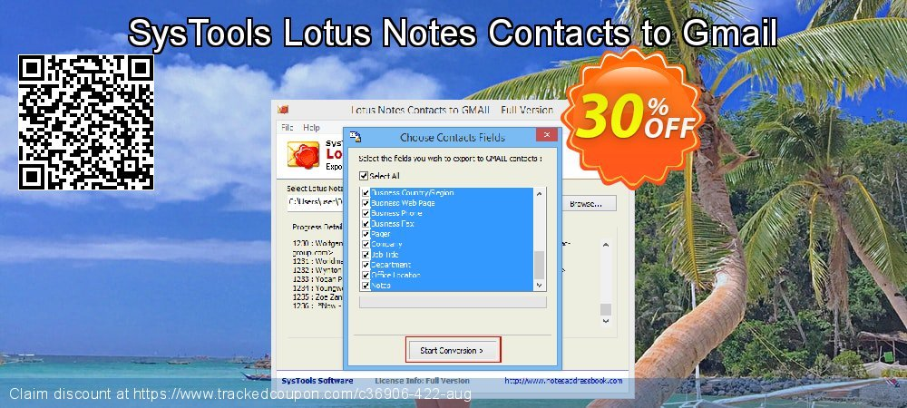 SysTools Lotus Notes Contacts to Gmail coupon on Thanksgiving offering sales