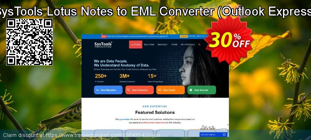 SysTools Lotus Notes to EML Converter - Outlook Express  coupon on Year-End super sale