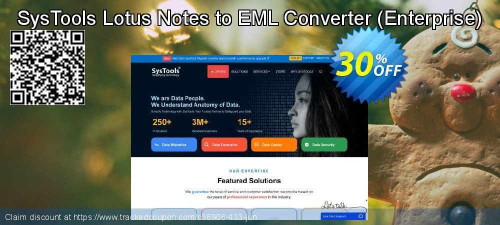 SysTools Lotus Notes to EML Converter - Enterprise  coupon on Black Friday discounts