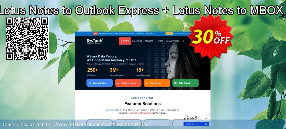 SysTools Lotus Notes to Outlook Express + Lotus Notes to MBOX Converter coupon on Back to School deals super sale
