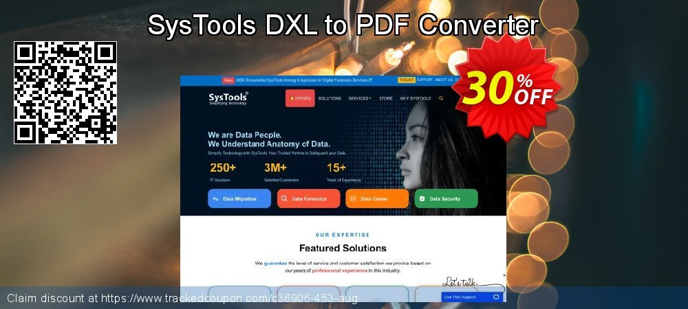SysTools DXL to PDF Converter coupon on Summer offering sales