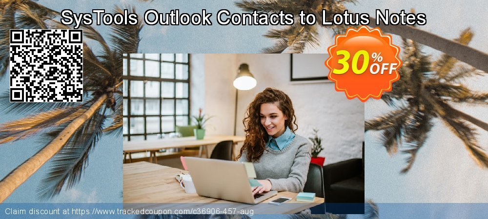 SysTools Outlook Contacts to Lotus Notes coupon on Black Friday offering discount