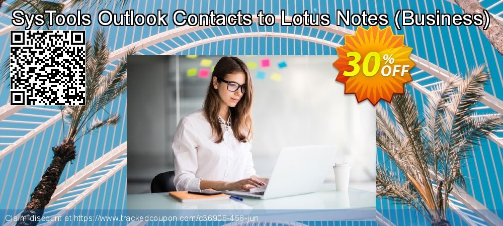 SysTools Outlook Contacts to Lotus Notes - Business  coupon on Easter super sale