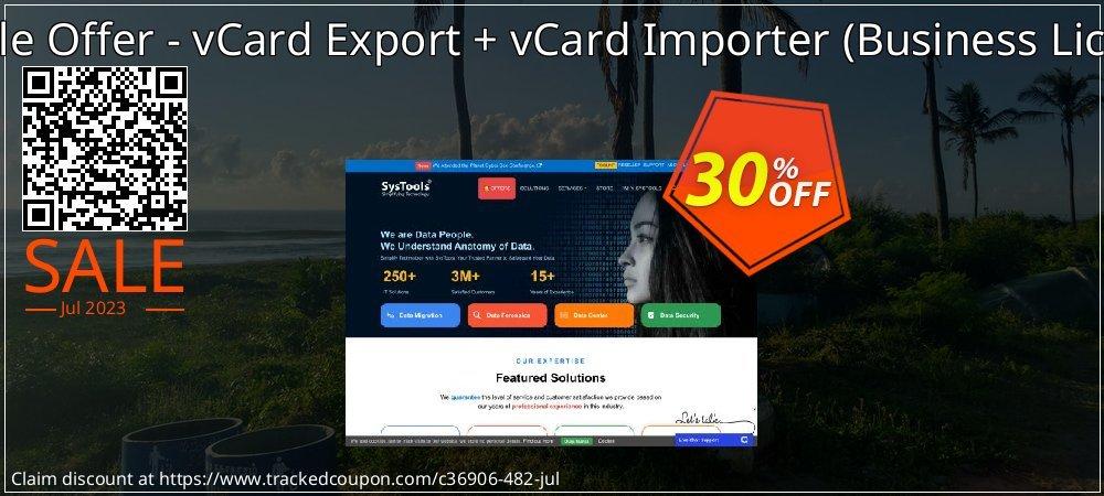 Bundle Offer - vCard Export + vCard Importer - Business License  coupon on Thanksgiving offer