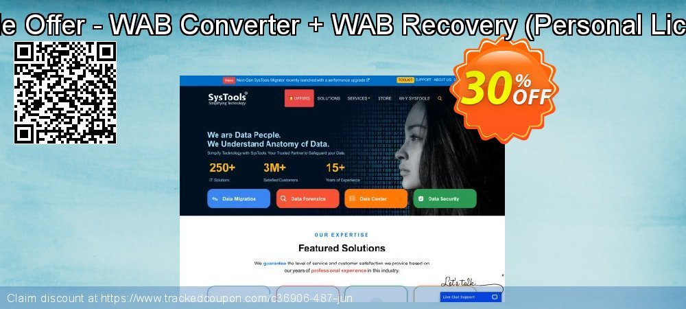 Bundle Offer - WAB Converter + WAB Recovery - Personal License  coupon on Black Friday discounts