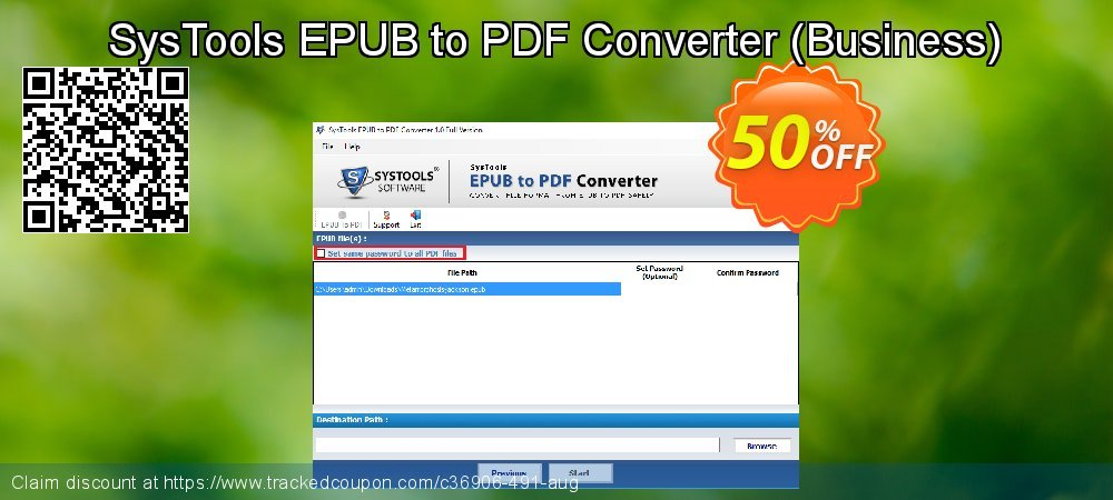 SysTools EPUB to PDF Converter - Business  coupon on National French Fry Day discounts