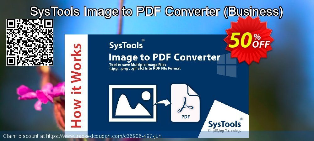 SysTools Image to PDF Converter - Business  coupon on Tattoo Day offering discount