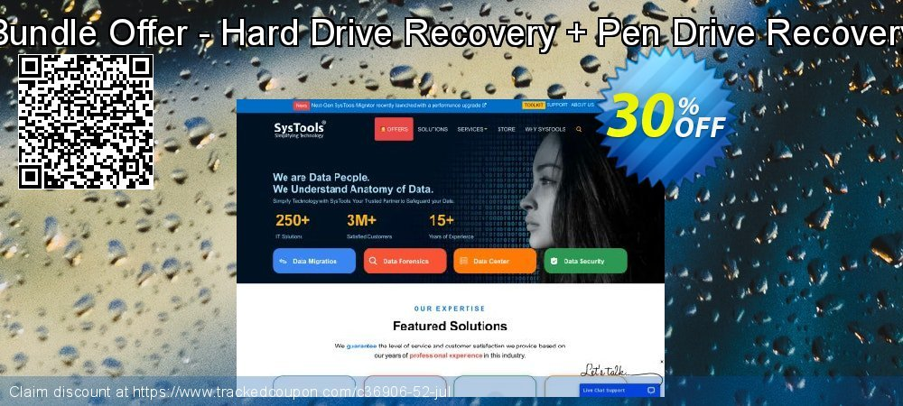 Bundle Offer - Hard Drive Recovery + Pen Drive Recovery coupon on Thanksgiving offering discount