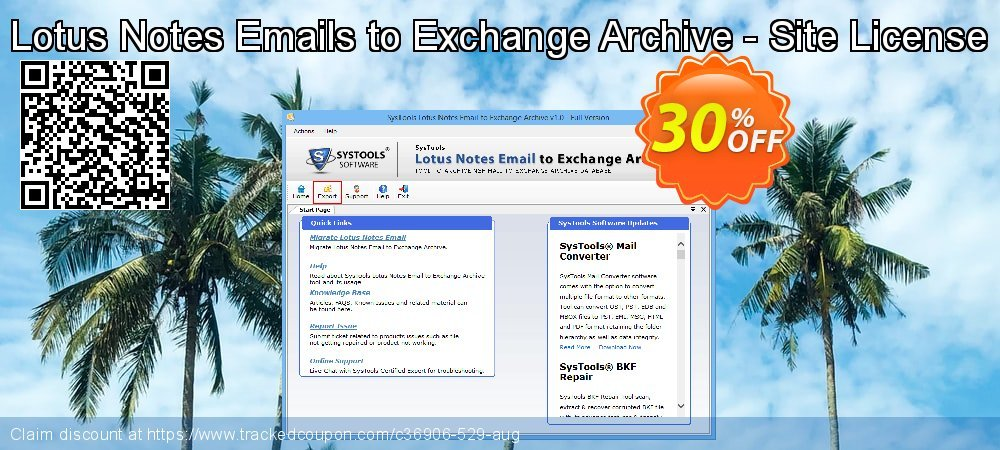 Lotus Notes Emails to Exchange Archive - Site License coupon on April Fool's Day offer