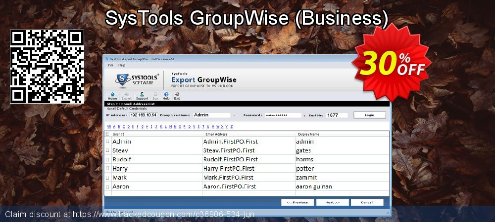 Get 20% OFF SysTools GroupWise (Business) offering sales