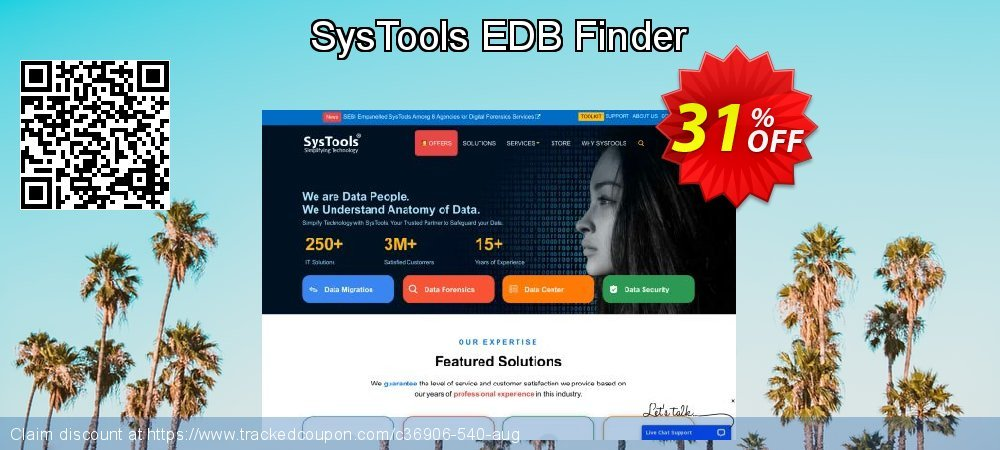 SysTools EDB Finder coupon on April Fool's Day discounts