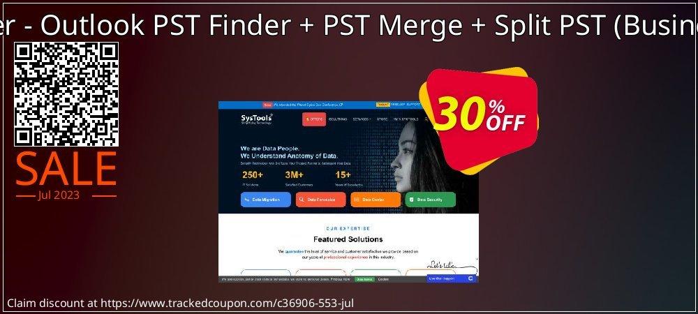 Bundle Offer - Outlook PST Finder + PST Merge + Split PST - Business License  coupon on Black Friday deals