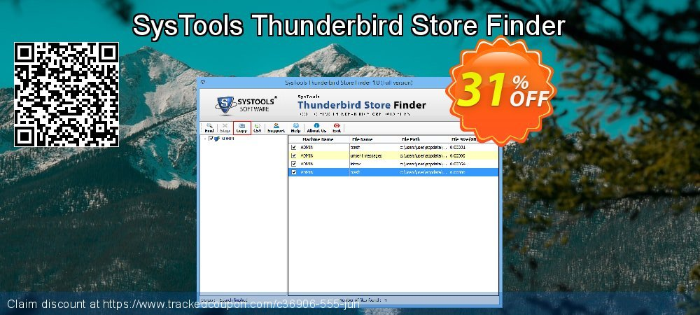 SysTools Thunderbird Store Finder coupon on April Fool's Day deals