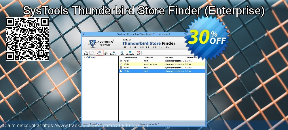 Get 30% OFF SysTools Thunderbird Store Finder (Enterprise) discounts
