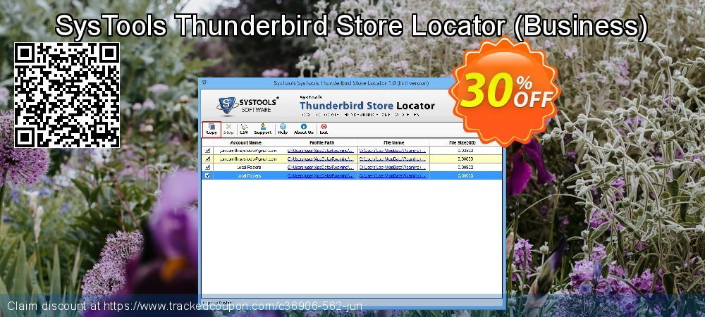 SysTools Thunderbird Store Locator - Business  coupon on Thanksgiving deals