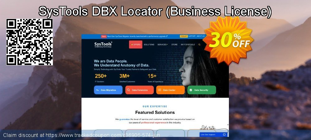 SysTools DBX Locator - Business License  coupon on Easter sales