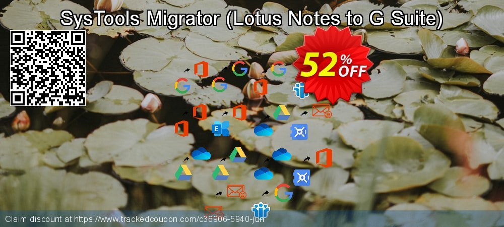 SysTools Migrator - Lotus Notes to G Suite  coupon on American Independence Day offer