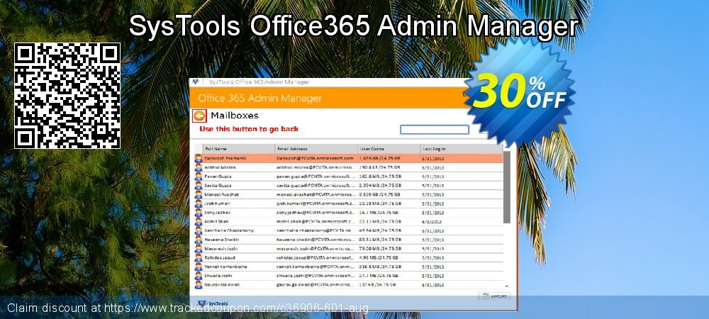 SysTools Office365 Admin Manager coupon on April Fool's Day offering sales