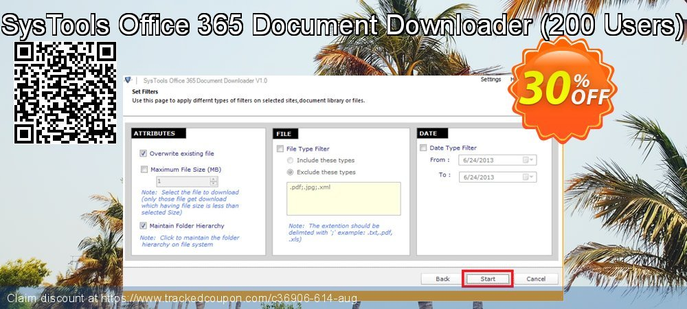 SysTools Office 365 Document Downloader - 200 Users  coupon on Christmas sales