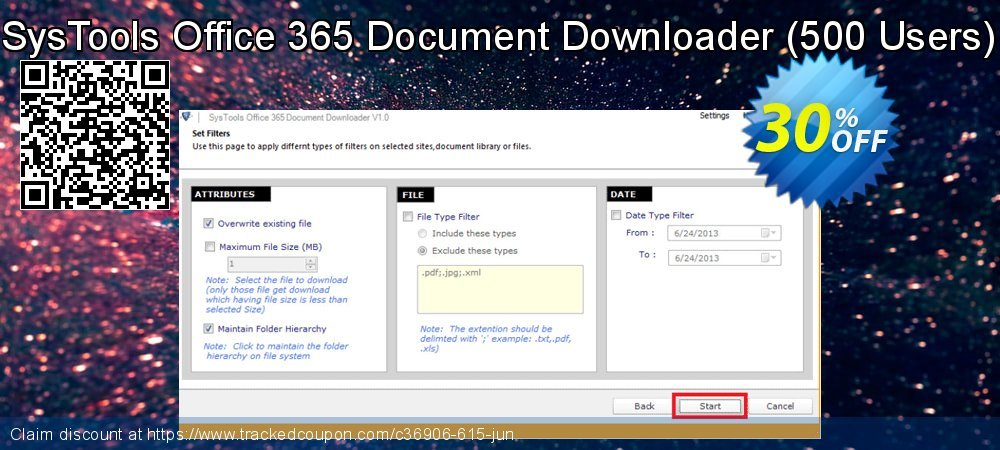 SysTools Office 365 Document Downloader - 500 Users  coupon on April Fool's Day deals