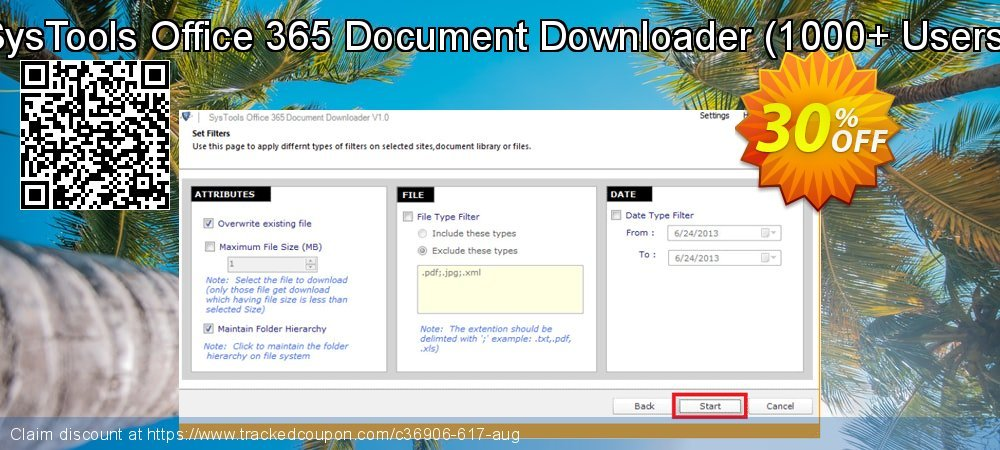 SysTools Office 365 Document Downloader - 1000+ Users  coupon on Summer discounts