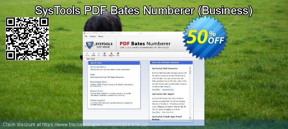 SysTools PDF Bates Numberer - Business  coupon on US Independence Day sales