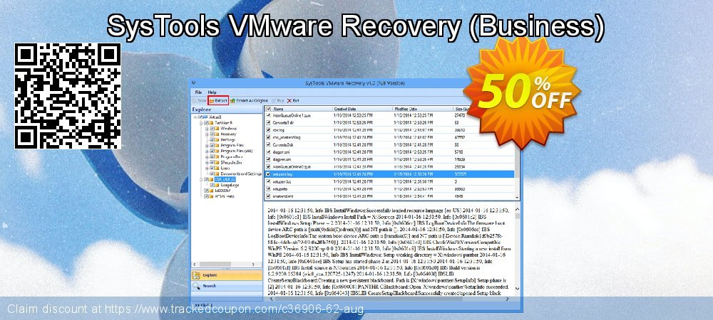 SysTools VMware Recovery - Business  coupon on July 4th deals