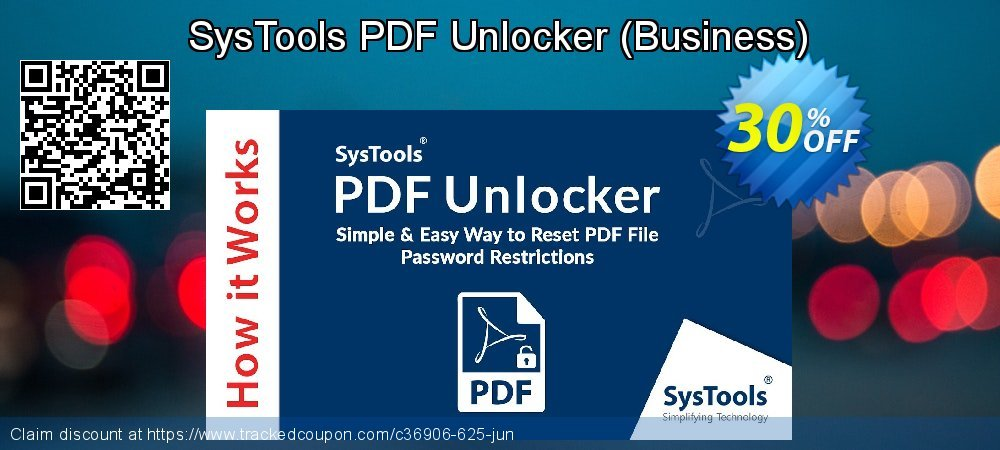 SysTools PDF Unlocker - Business  coupon on World Population Day super sale