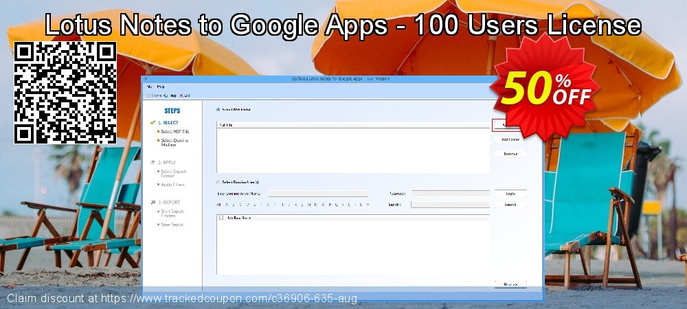 Lotus Notes to Google Apps - 100 Users License coupon on Lunar New Year deals