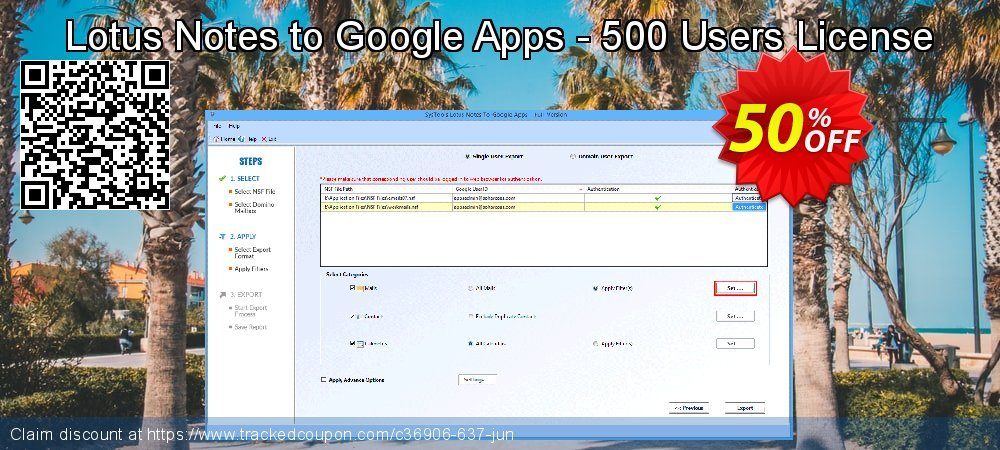 Lotus Notes to Google Apps - 500 Users License coupon on April Fool's Day promotions