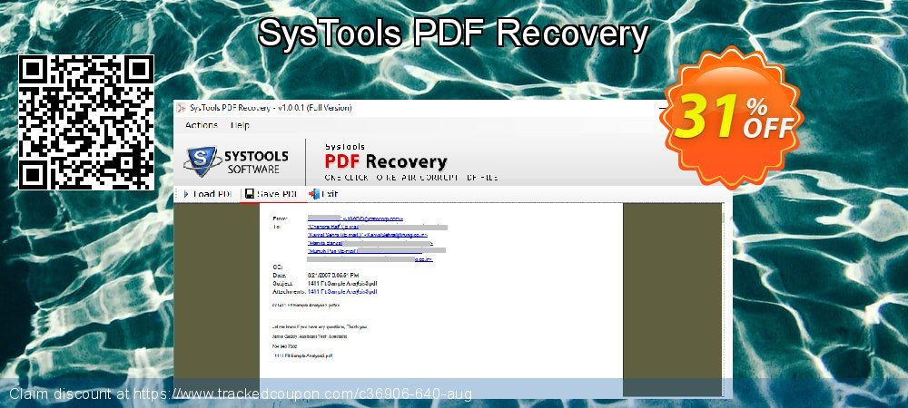 SysTools PDF Recovery coupon on National Pumpkin Day super sale