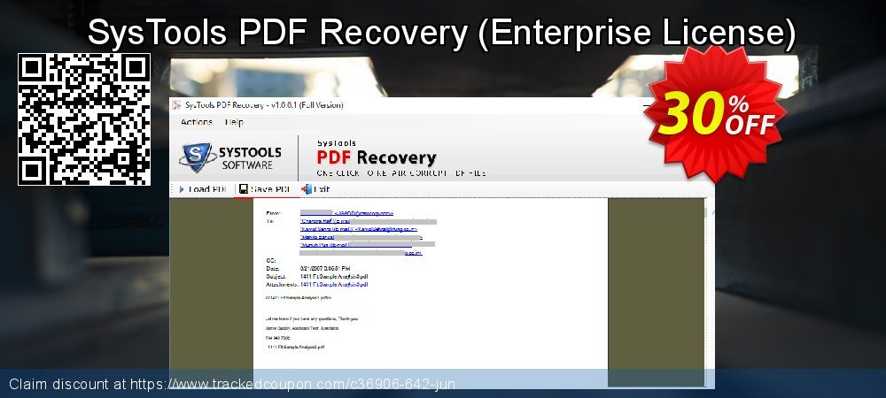 Claim 30% OFF SysTools PDF Recovery - Enterprise License Coupon discount October, 2021