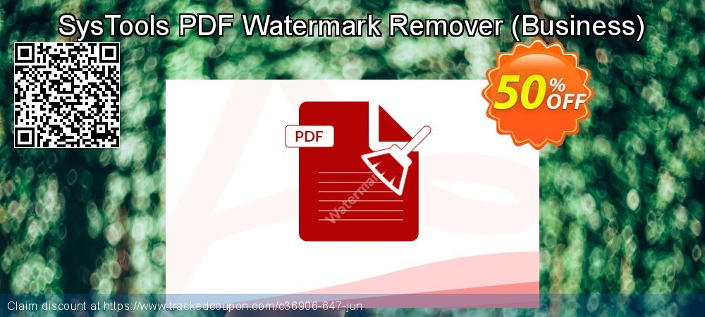 SysTools PDF Watermark Remover - Business  coupon on US Independence Day deals