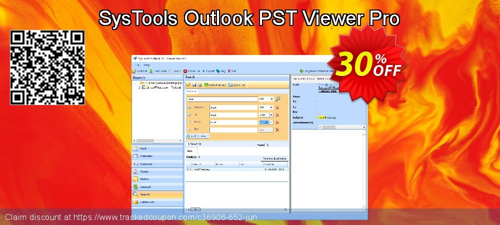 SysTools Outlook PST Viewer Pro coupon on Back to School promotion discounts
