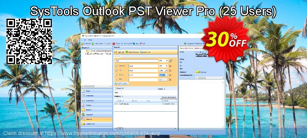 SysTools Outlook PST Viewer Pro - 25 Users  coupon on Thanksgiving discount