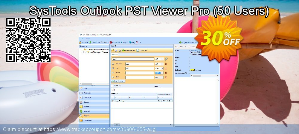 SysTools Outlook PST Viewer Pro - 50 Users  coupon on US Independence Day sales