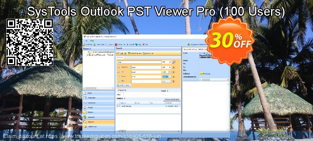 SysTools Outlook PST Viewer Pro - 100 Users  coupon on 4th of July deals