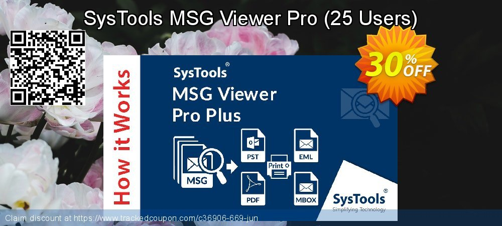 SysTool MSG Viewer Pro - 25 Users  coupon on Christmas deals