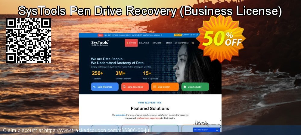 SysTools Pen Drive Recovery - Business License  coupon on Summer discounts
