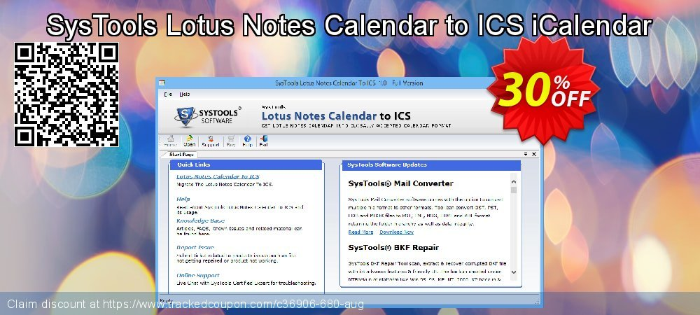 SysTools Lotus Notes Calendars to iCalendar .ICS coupon on April Fool's Day discount