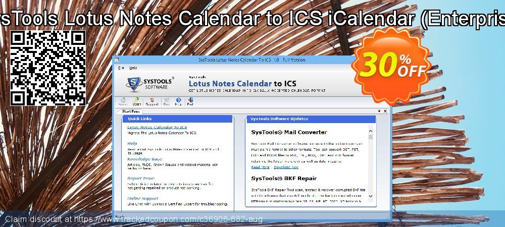 SysTools Lotus Notes Calendars to iCalendar .ICS - Enterprise  coupon on Happy New Year discount