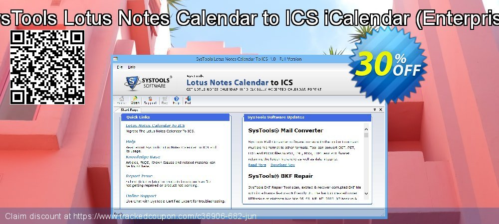 SysTools Lotus Notes Calendars to iCalendar .ICS - Enterprise  coupon on Easter offering sales