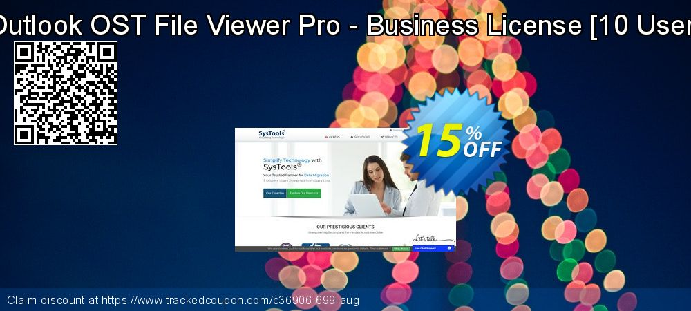 Get 15% OFF Outlook OST File Viewer Pro - Business License [10 User] offering discount