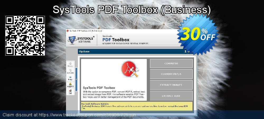 Get 30% OFF SysTools PDF Toolbox (Business) offering sales