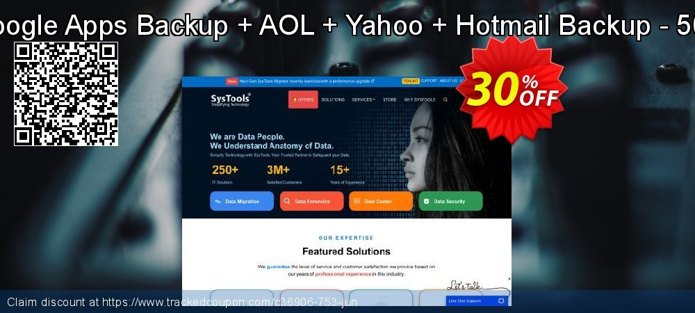 Bundle Offer - Google Apps Backup + AOL + Yahoo + Hotmail Backup - 500 Users License coupon on Black Friday discount