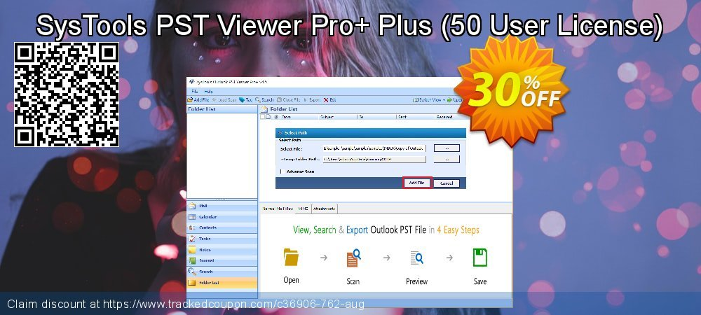 SysTools PST Viewer Pro+ Plus - 50 User License  coupon on American Independence Day promotions
