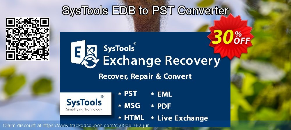 SysTools EDB to PST Converter coupon on July 4th deals